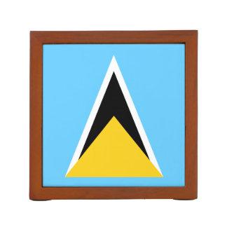 セントルシアの机のオルガナイザーの旗 ペンスタンド