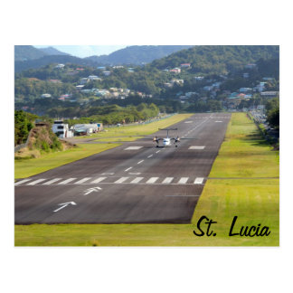 セントルシアの飛行機および滑走路の写真 ポストカード