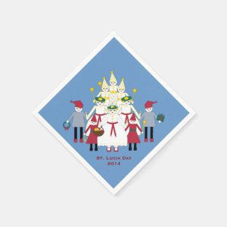 セントルシア日のクリスマスの紙ナプキン スタンダードカクテルナプキン