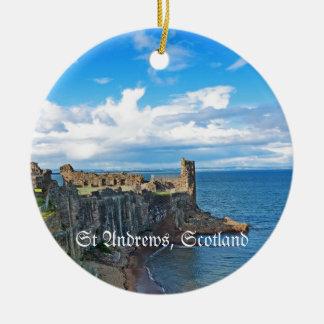 セント・アンドリュースの城、スコットランド セラミックオーナメント