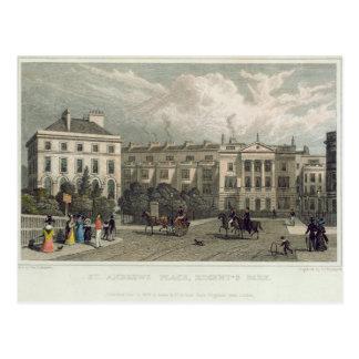 セント・アンドリュースの場所、理事公園1828年 ポストカード
