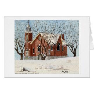 セント・アンドリュースの長老派教会、水彩画 カード