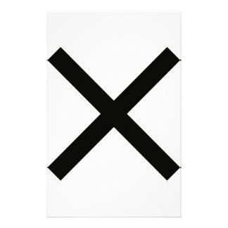 セント・アンドリュース黒い十字アイコン 便箋