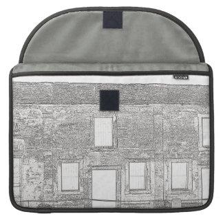 セント・オーガスチンの城砦のWindowsラインスケッチ MacBook Proスリーブ