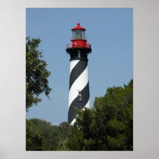 セント・オーガスチンフロリダの灯台 ポスター
