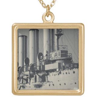 セント・ピーターズバーグの巡洋艦のオーロラ2 ゴールドプレートネックレス
