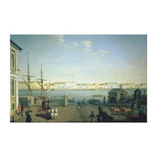 セント・ピーターズバーグの1790年代の英国の海岸の通り キャンバスプリント