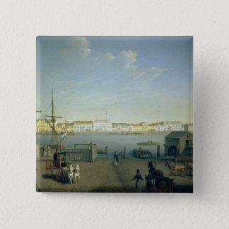 セント・ピーターズバーグの1790年代の英国の海岸の通り 5.1CM 正方形バッジ