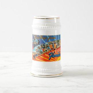 セント・ピーターズバーグフロリダFLのヴィンテージ旅行記念品 ビールジョッキ