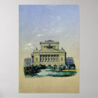 セント・ピーターズバーグ1841年のアレキサンダーの劇場 ポスター