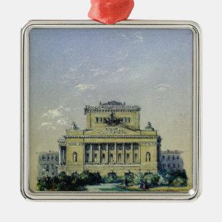 セント・ピーターズバーグ1841年のアレキサンダーの劇場 メタルオーナメント