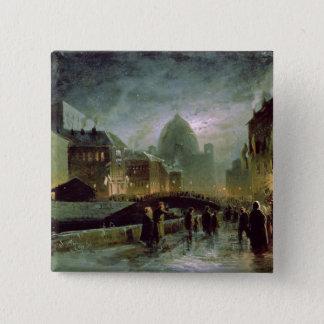 セント・ピーターズバーグ1869年の照明 5.1CM 正方形バッジ