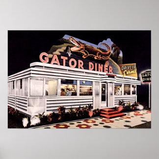 セント・ピーターズバーグ、フロリダのわにダイナーのレストラン ポスター
