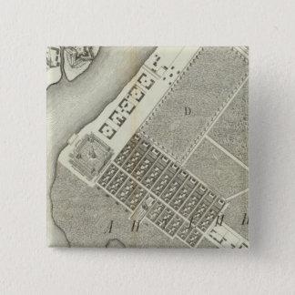セント・ピーターズバーグ、ロシア3 5.1CM 正方形バッジ