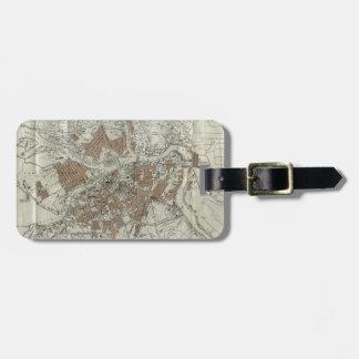 セント・ピーターズバーグ(1893年)のヴィンテージの地図 ラゲッジタグ