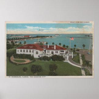 セント・ピーターズバーグ、FL -ヨットクラブのアンテナ及び ポスター
