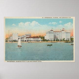 セント・ピーターズバーグ、FL - Sorenoの水辺地帯の眺め ポスター
