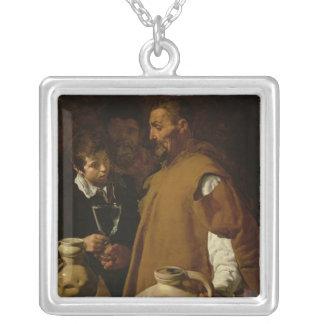 セヴィルのWaterseller、c.1620 シルバープレートネックレス