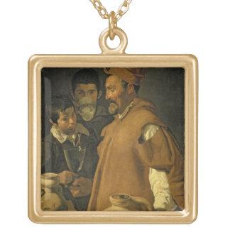 セヴィル、c.1620 (キャンバスの水販売人の油 ゴールドプレートネックレス