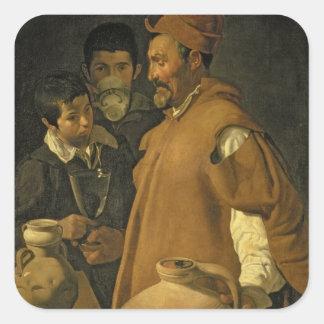 セヴィル、c.1620 (キャンバスの水販売人の油 スクエアシール