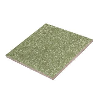 セージグリーンのイチョウのbilobaの葉 タイル