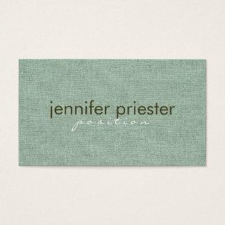 セージグリーンのバーラップのLinnenのパステル調の質 名刺