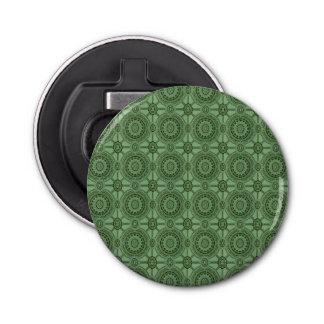 セージグリーンのヴィンテージの幾何学的な花パターン 栓抜き