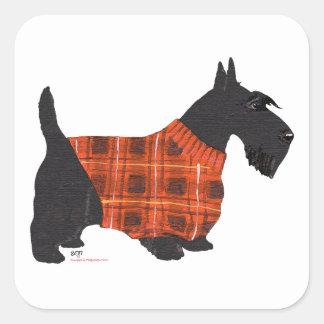 セーターのスコットランドテリア スクエアシール