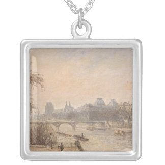 セーヌ河およびルーバー1903年 シルバープレートネックレス