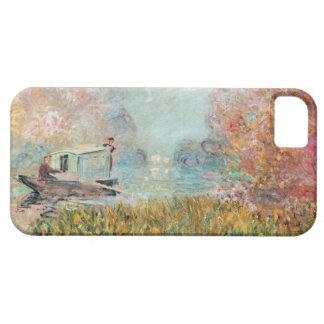 セーヌ河のクロード・モネ|のボートのスタジオ iPhone SE/5/5s ケース