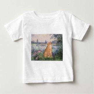 セーヌ河-オレンジ虎猫のSH猫46著 ベビーTシャツ