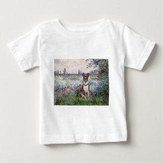 セーヌ河- Basenji著 ベビーTシャツ