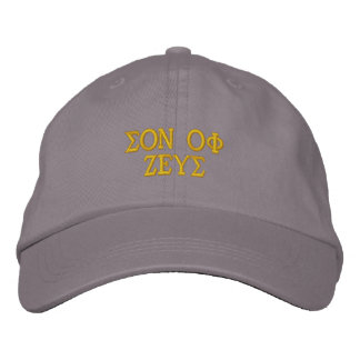 ゼウスの息子 刺繍入りキャップ