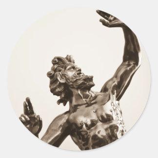 ゼウス、ギリシャの神 ラウンドシール