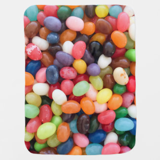 ゼリー菓子のイースターゼリー菓子の背景のゼリー菓子 ベビー ブランケット