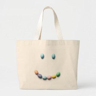 ゼリー菓子のスマイリーフェイス ラージトートバッグ