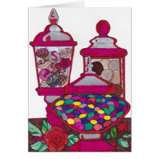 ゼリー菓子のバレンタインのカード カード