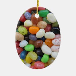 ゼリー菓子の黒の青緑キャンデーの質のテンプレート セラミックオーナメント
