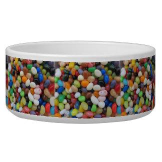 ゼリー菓子の黒の青緑キャンデーの質のテンプレート 犬用水皿