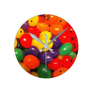 ゼリー菓子 ラウンド壁時計