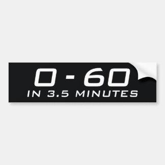ゼロから3.5分に付き60 バンパーステッカー