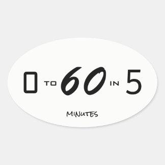 ゼロから5分に付き60 楕円形シール