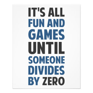 ゼロで割ることによって求めることはゲームではないです チラシ