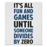 ゼロで割ることによって求めることはゲームではないです ポスター