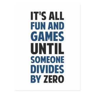 ゼロで割ることによって求めることはゲームではないです ポストカード