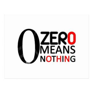 ゼロは何も意味しません ポストカード