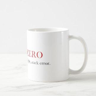ゼロマグで境界-積み重ね間違い コーヒーマグカップ