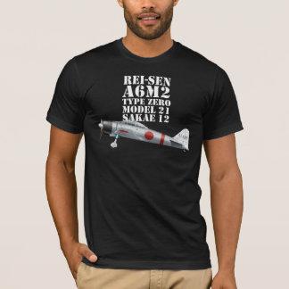 ゼロ戦闘機A6M2のタイプ0モデル21ティー Tシャツ
