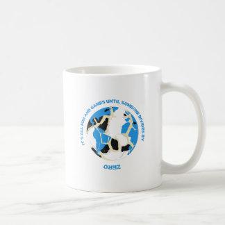 ゼロ数学の教師のマグでおもしろいそしてゲームの境界 コーヒーマグカップ