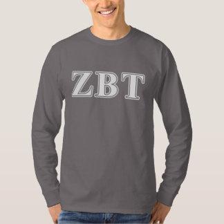 ゼータベータTauの白くおよび黄色の手紙 Tシャツ